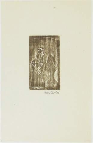 Max Weber 18811961 Signed Woodblock Print
