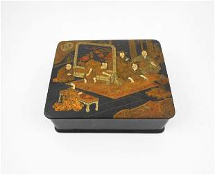 Japanese Gilt Lacquered Box 19th Century