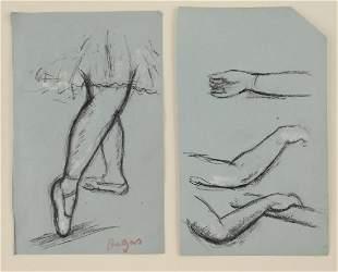 Edgar Degas 18341917 Charcoal Studies