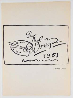 Georges Braque 18821963 Pen Ink Drawing