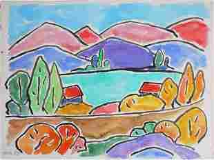 Gabriele Munter 18771962 Watercolor Gouache