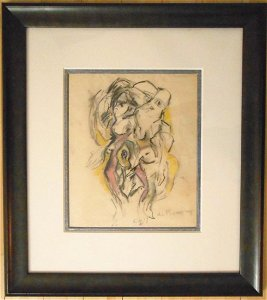 Willem De Kooning (1904-1997) Charcoal & Chalk