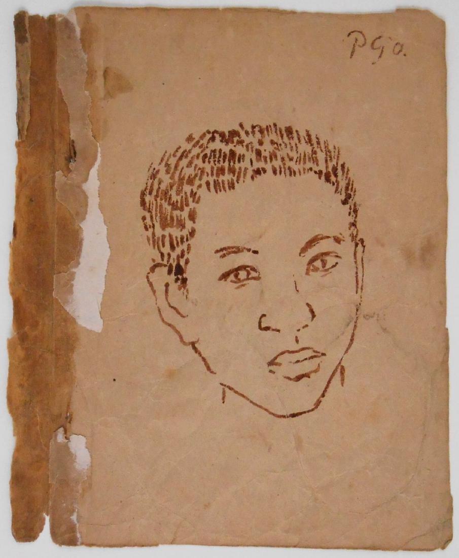 Paul Gauguin (1848-1903) Sketchbook Drawing