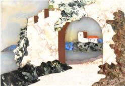 Italian Pietra Dura Landscape Plaque