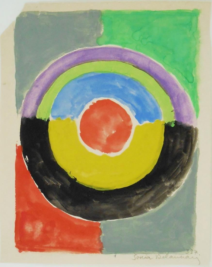 Sonia Delaunay (1885-1979) Watercolor & Gouache