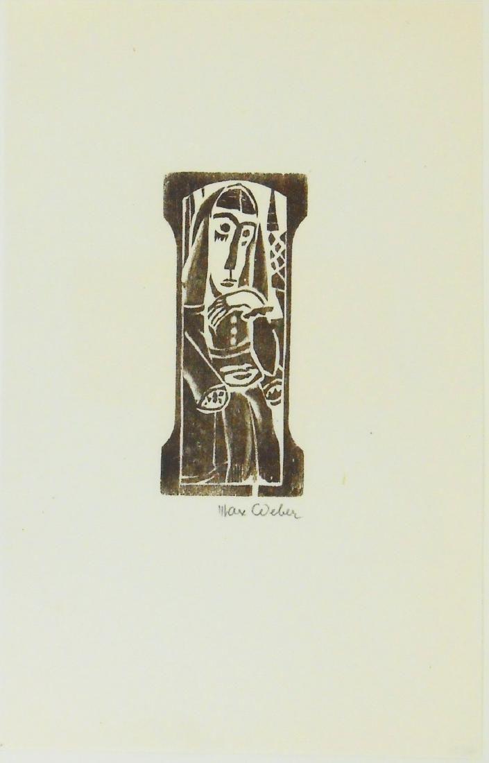 Max Weber (1881-1961) Signed Woodblock Print
