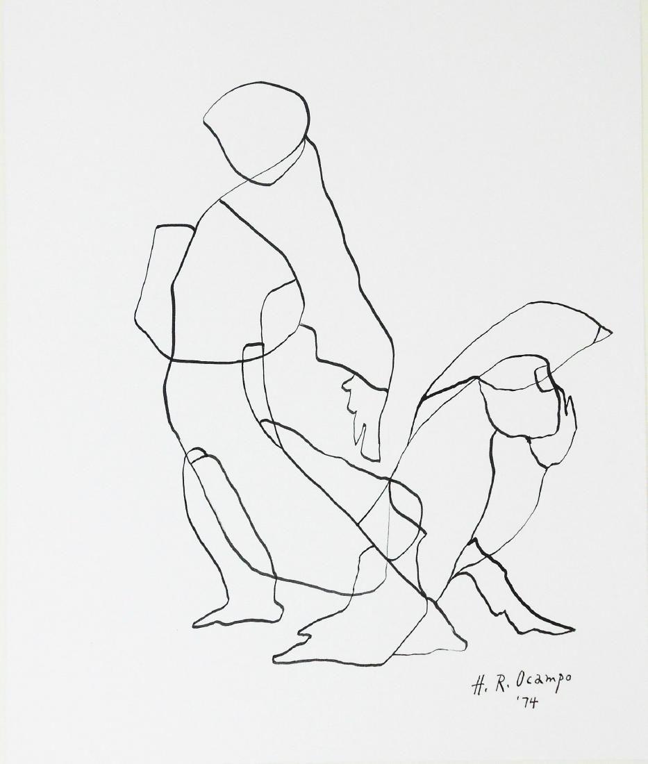 Hernando Ocampo (1911-1978) Pen & Ink Drawing