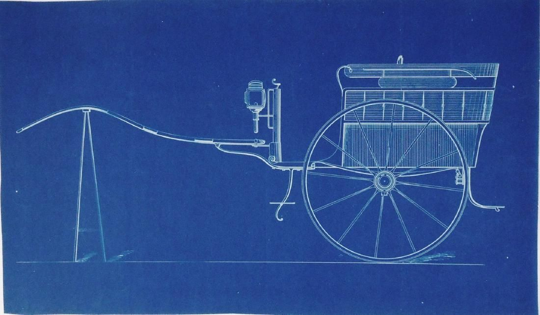 19th Century Blueprint, Carriage Design