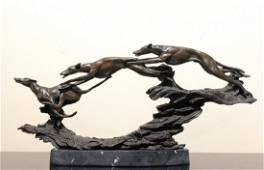Bronze Sculpture, Three Greyhounds