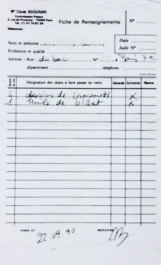 Alberto Giacometti (1901-1966) Pencil Drawing - 3