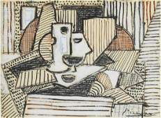 Pablo Picasso (1881-1973) Mixed Media On Paper