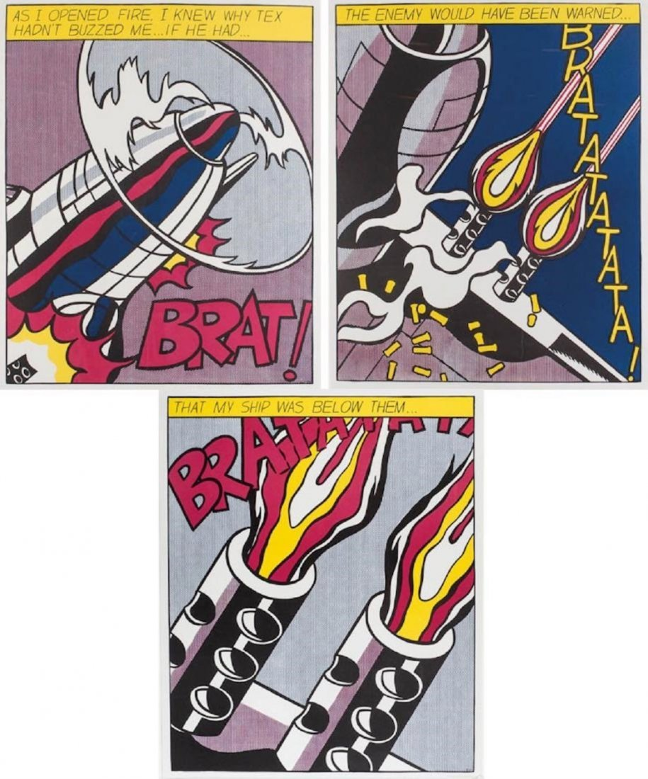 Roy Lichtenstein (1923-1997) Lithograph In Colors