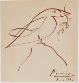 Pablo Picasso (1881-1973) Pen & Ink Sketch