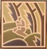Robert Gordy (1933-1986) Acrylic On Canvas