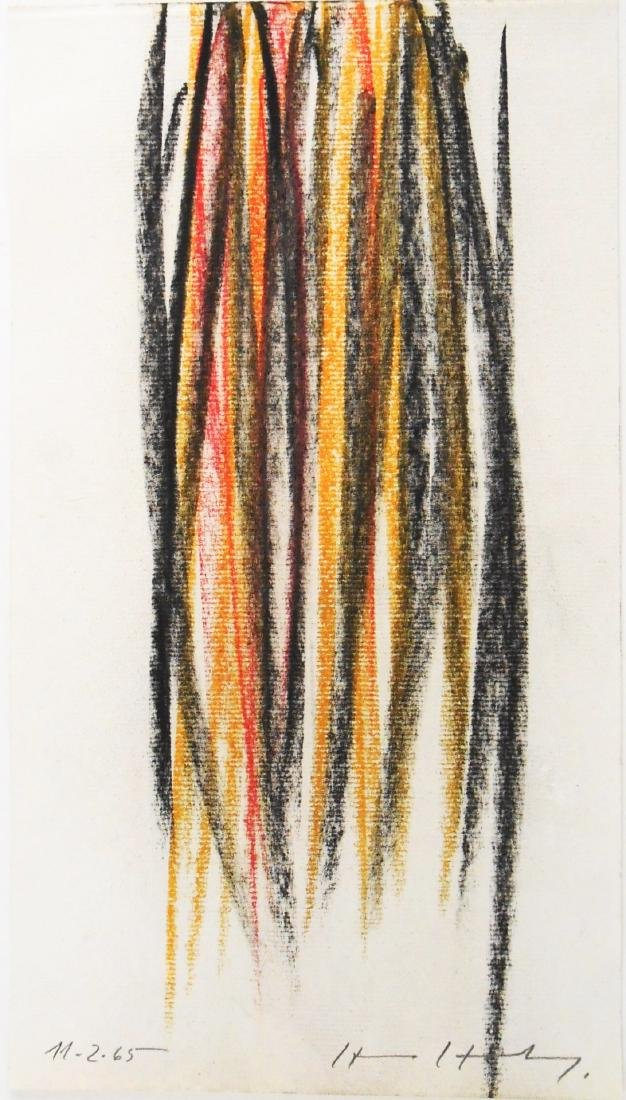 Hans Hartung (1904-1989) Pastel On Paper