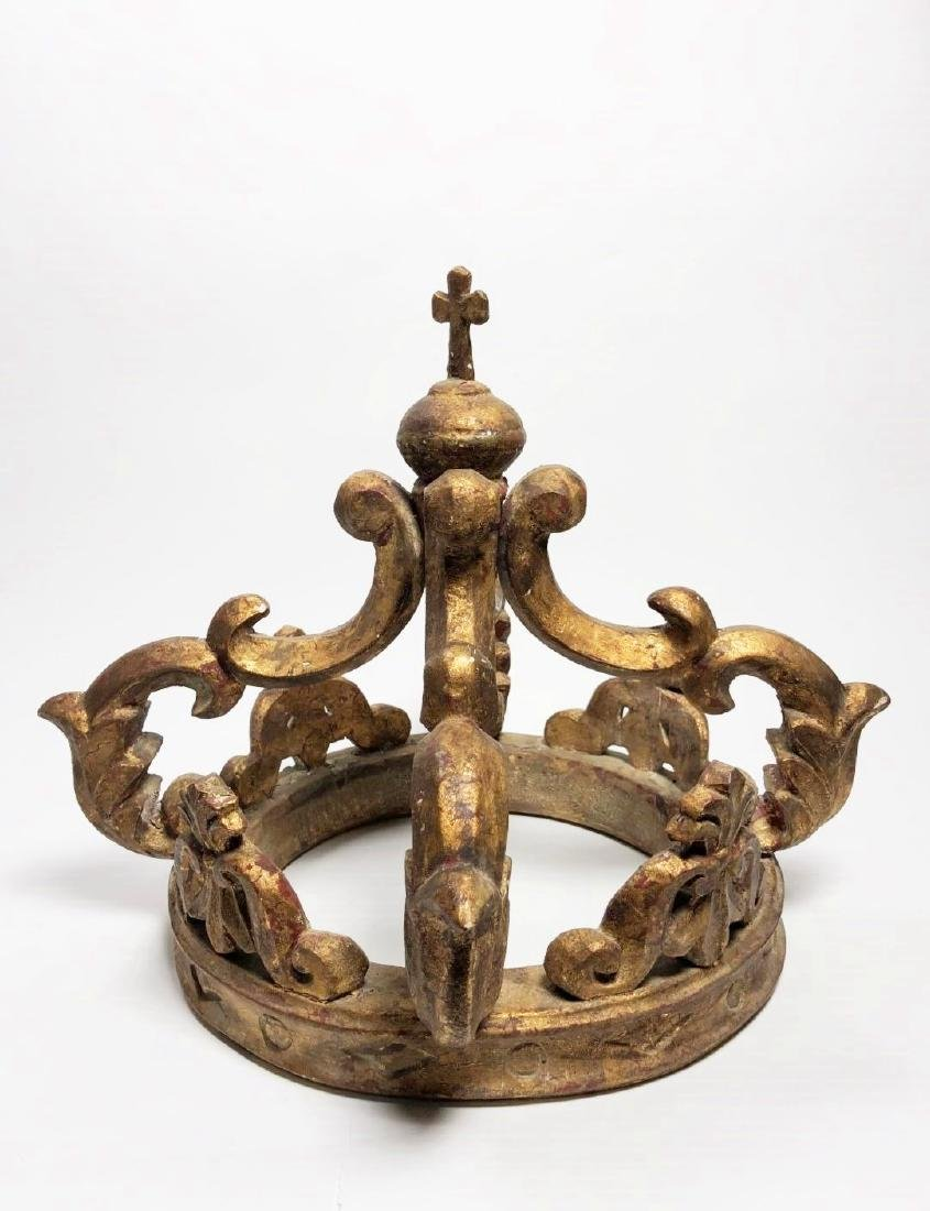 Carved Giltwood Crown, Italian, 19th Century
