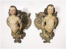 Pair Carved Wall Brackets, 19th Century