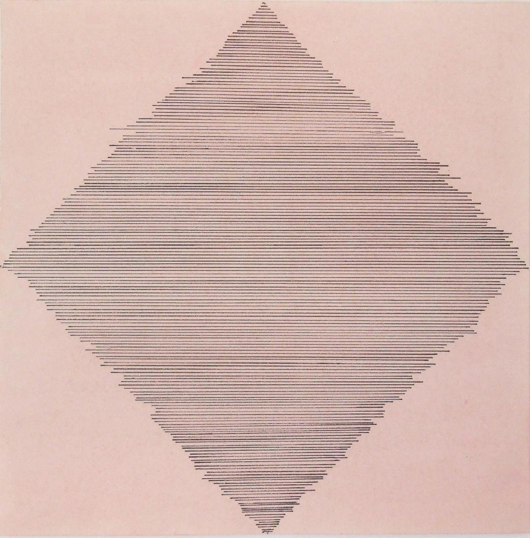 Agnes Martin (1912-2004) Watercolor & Ink