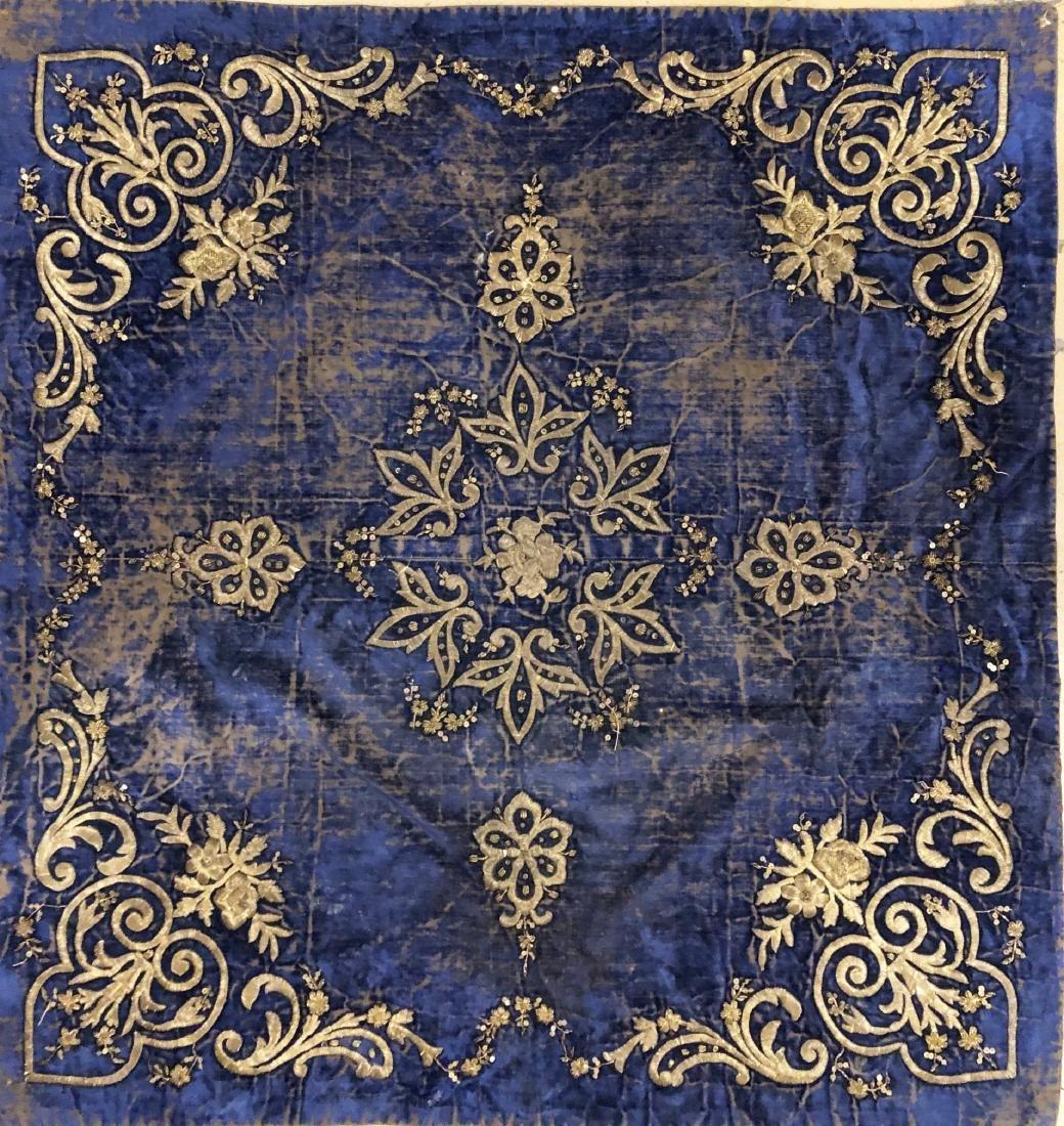 Turkish Silk Velvet Textile, 19th Century