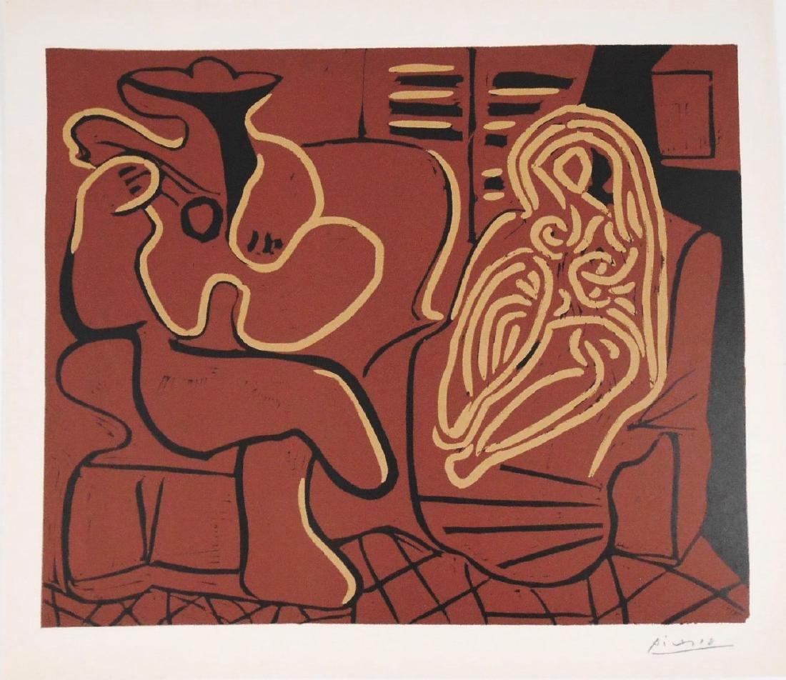 Pablo Picasso (1881-1973) Signed Linocut