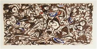 Jackson Pollock (1912-1956) Ink & Watercolor