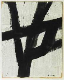 Franz Kline (1910-1962) Gouache On Newspaper