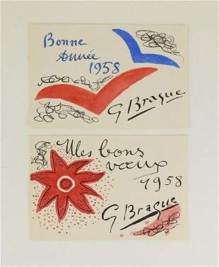 Georges Braque (1882-1963) Greeting Cards (2)