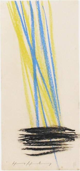 Hans Hartung (1904-1989) Pastel On Paper