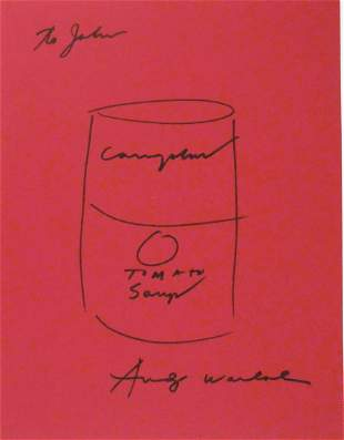 Andy Warhol (1928-1987) Souvenir Drawing
