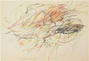 Cy Twombly (1928-2011) Pencil & Crayon Drawing