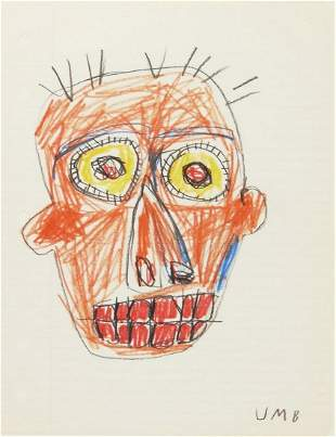 Jean-Michel Basquiat (1960-1988) Pencil Drawing