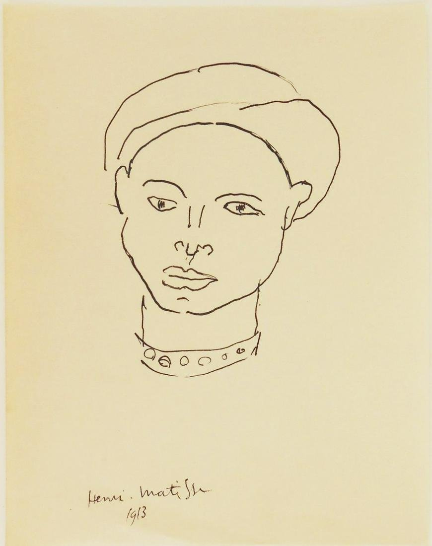 Henri Matisse (1869-1954) Pen & Ink Drawing