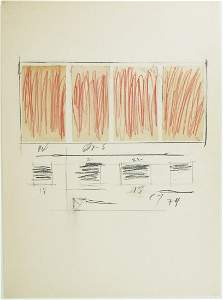 Cy Twombly (1928-2011) Mixed Media On Paper