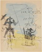 Salvador Dali (1904-1989) Souvenir Drawing