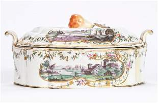 Viennese Porcelain Vegetable Dish, 19th Century