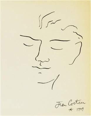 Jean Cocteau (1889-1963) Pen & Ink Drawing
