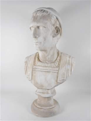 Plaster Bust Of Roman Emperor