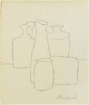 Giorgio Morandi (1890-1964) Pencil Drawing