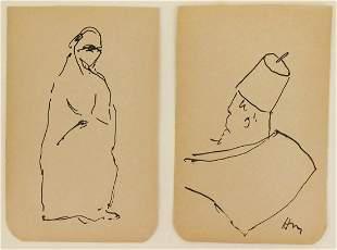 Henri Matisse (1869-1954) Pen & Ink Drawings (2)
