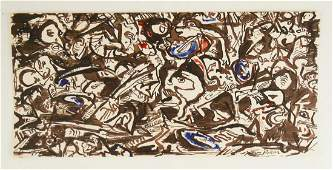 Jackson Pollock (1912-1956) Ink & Watercolor