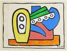 Fernand Leger (1881-1955) Gouache
