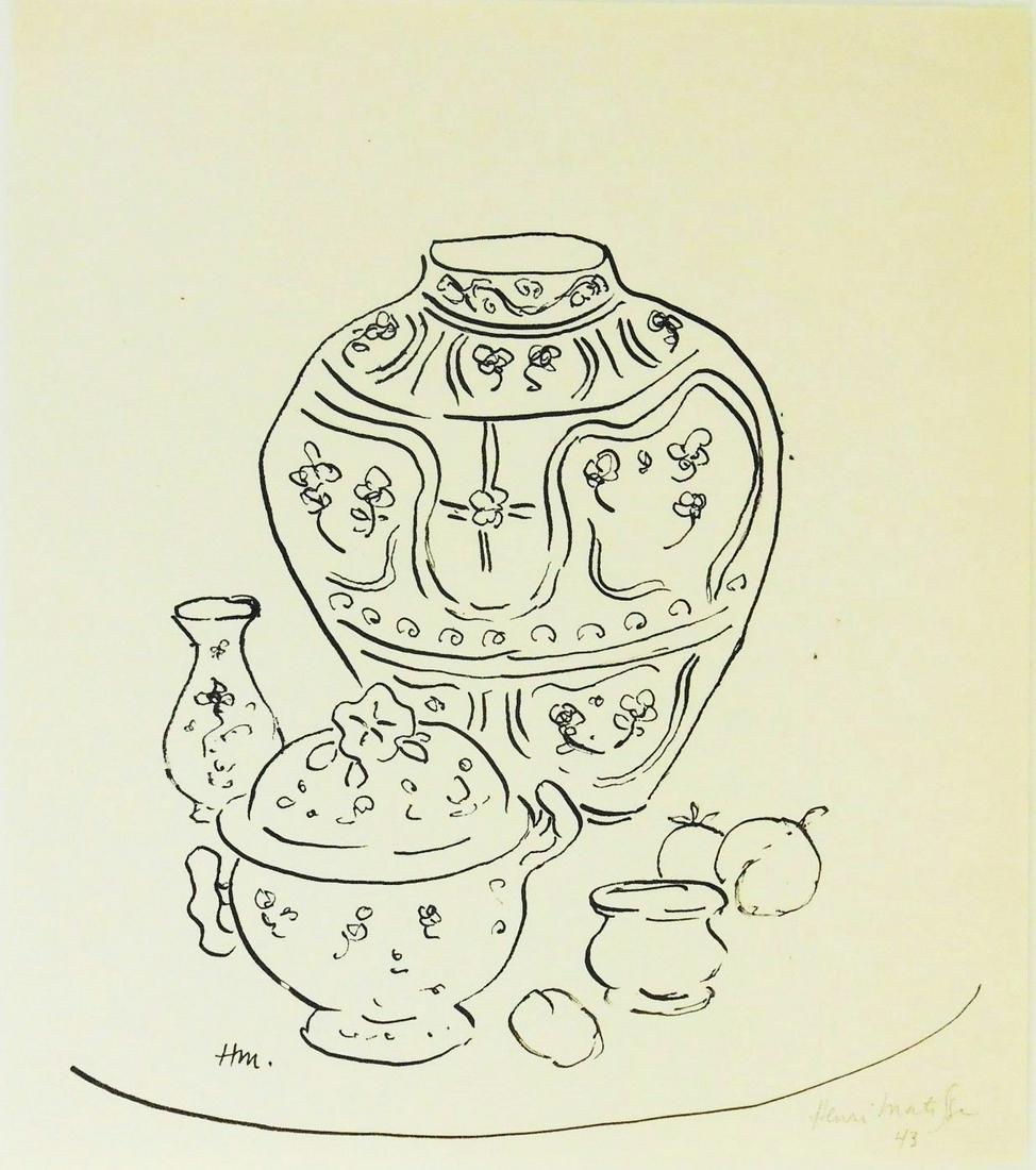 Henri Matisse (1869-1954) Pen & Ink Drawing
