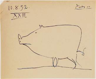 Pablo Picasso (1881-1973) Ink Drawing