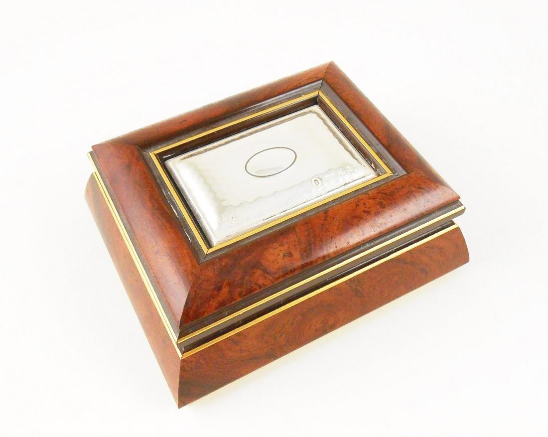 Wood & Sterling Silver Trinket Box By Sagni