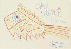 Pablo Picasso (1881-1973) Crayon Sketch