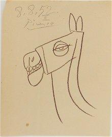 Pablo Picasso (1881-1973) Brown Pencil Sketch