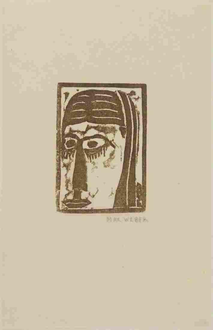 Max Weber (1881-1961) Woodblock Print