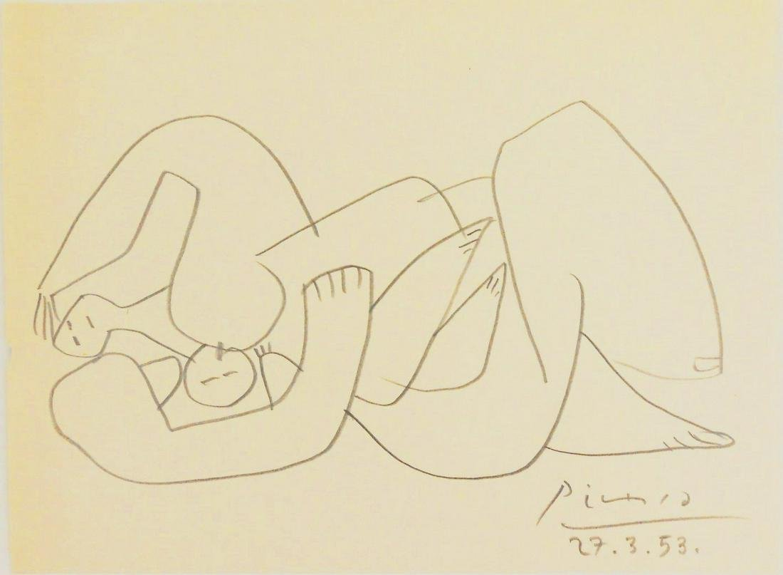 Pablo Picasso (1881-1973) Pencil Drawing