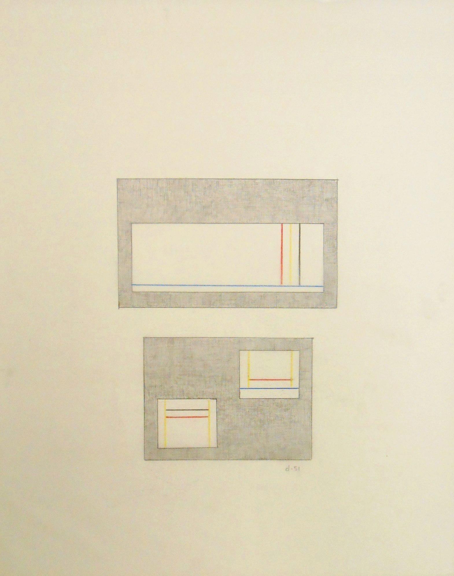Burgoyne Diller (1906-1965) Geometric Drawing