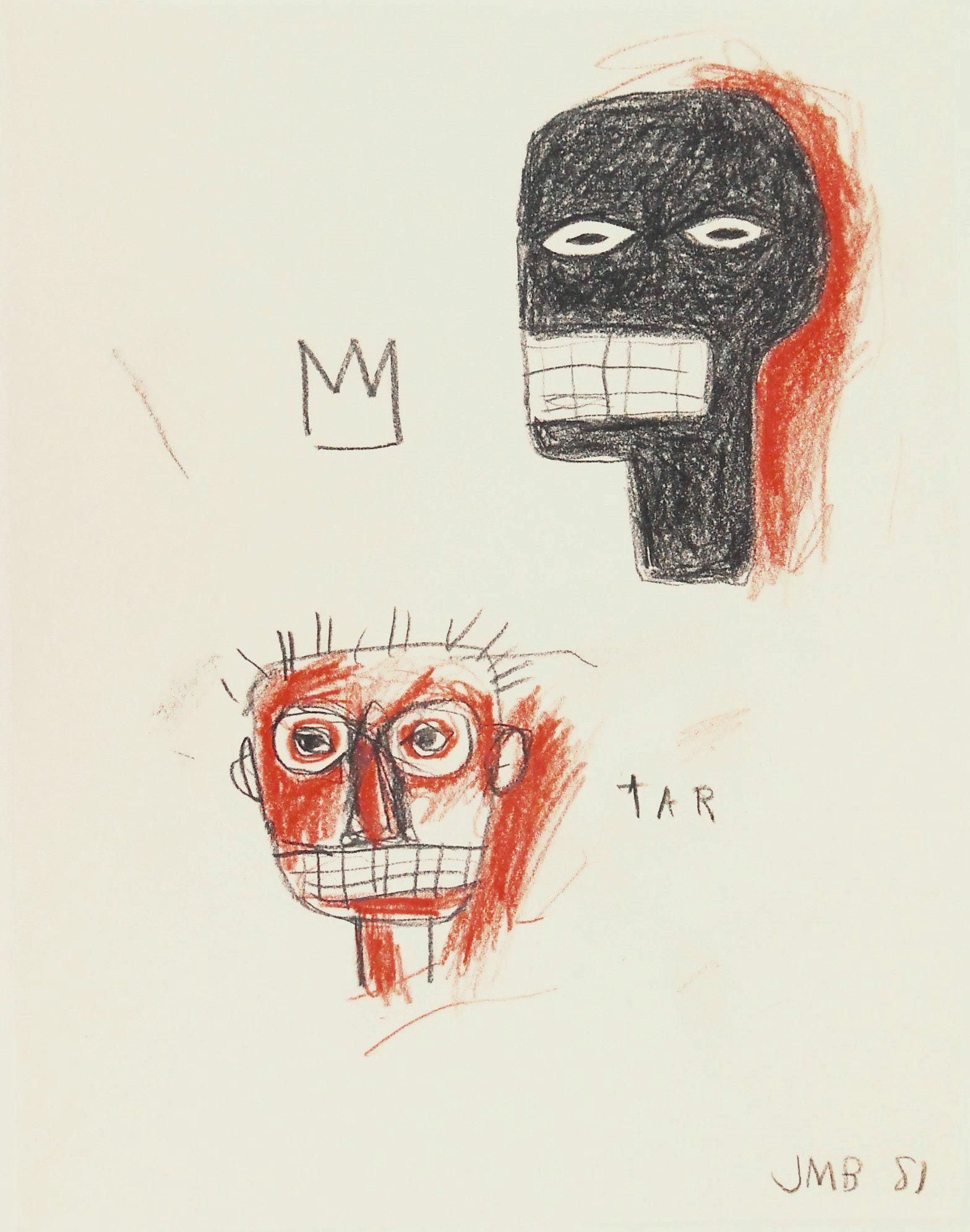 Jean-Michel Basquiat (1960-1988) Pencil Drawing